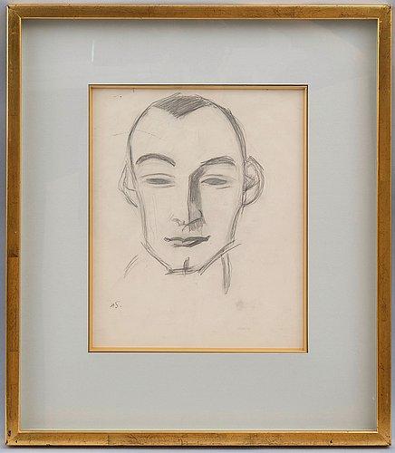 Helene schjerfbeck, portrait of a man.