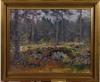 Liljefors, lindorm. olja på pannå, sign o dat  62