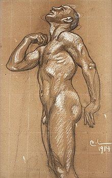 "115. Carl Larsson, ""Kung Domalde. Studie till 'Midvinterblot' "" (""Kung Domalde"". Study for ""Midvinterblot"")."