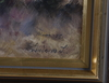 Liljefors, lindorm. olja på pannå, sign o dat Åland   75