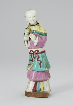 A figure, Qing dynasty 18th century. Height 17 cm.