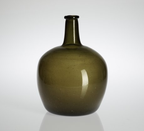 A green 18th/19th century bottle.