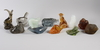 Parti figuriner, 12 st, glas, reijmyre, kosta, orrefors, för wwf.