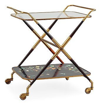 8. A Piero Fornasetti butterfly trolley, Italy, 1950's.