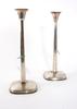 Ljusstakar, ett par, silver, s-a gillgren, g.a.b 1962.