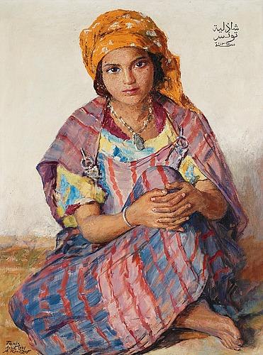 "Alexandre roubtzoff, ""bedouoine chadlia""."