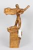 Lundqvist, john, skulptur, gips, sign o dat 1929.