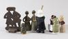 Figuriner, 7 st. keramik. bl.a. mari simulsson, upsala-ekeby.