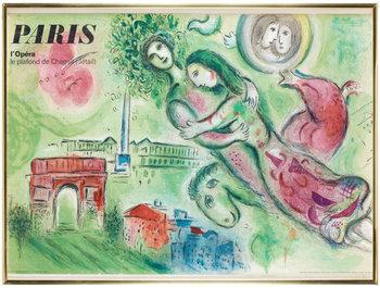 692. MARC CHAGALL, färglitografi. Utförd 1964. av Charles Sorlier, tryckt hos Mourlot, Paris, utgiven av Tourisme francais,