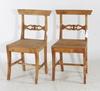 Stolar, ett par. allmoge, 1800-tal.