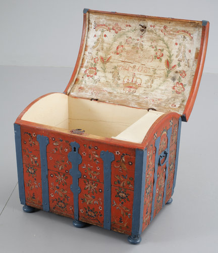 A swedish chest, dated 1808.