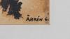 OkÄnd konstnÄr. blandteknik, sign Åhrén, dat -61.