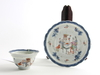 Kopp med fat, porslin, kina, 1700/1800-tal.