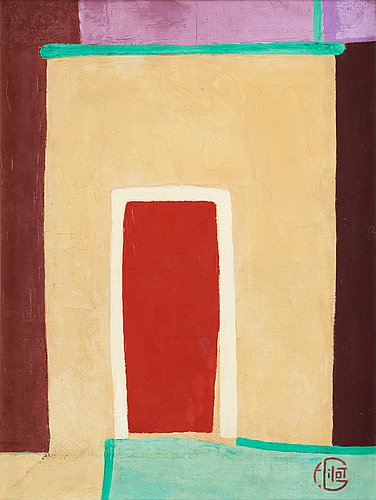 """Francoise gilot, """"the red door in india""""."""