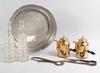 Parti diverse, 7 delar, mässing, tenn, glas, 1800-tal.