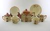 Teservis, 16 delar, flintgods, keele st pottery, england.
