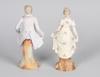 Figuriner, ett par, biskviporslin, rokokostil, sekelskiftet 1800/1900.
