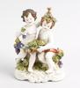 Figurin, porslin, rokokostil, pössneck, tyskland, tidigt 1900-tal.