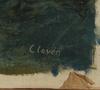 ClovÉn, gunnar. olja på duk, 2 st.  (1908 - 1995).
