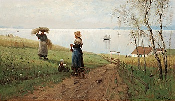 206. Frithjof Smith-Hald, Playing by the fields.