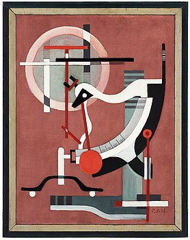 "GÖSTA ADRIAN-NILSSON, ""Brevvågen"" (The letter scale). Signed GAN. Executed around 1930-32. Canvas 60 x 46 cm. Or..."