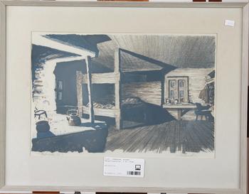 SVENSSON, ROLAND. Färglitografier, 2 st. Sign.