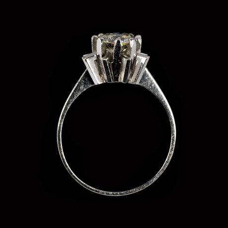 Ring, brilliant cut diamond, app. 0.90 ct.