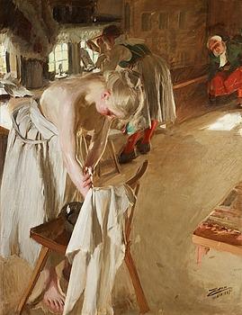 "85. Anders Zorn, ""Söndagsmorgon"" (Sunday morning)."