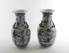 Urnor, ett par, porslin, kina, 1800/1900-tal.