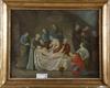 OkÄnd konstnÄr. olja på duk uppklistrad på pannå. omkring år 1800.