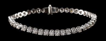 1013. BRACELET, 47 brilliant cut diamonds, tot. 5.04 cts.