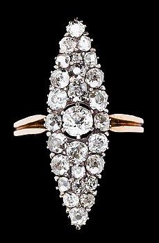 1012. RING, old cut diamonds, tot. app. 1.50 cts. 19th century.