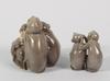 Figuriner, 2 st, porslin, bing & gröndahl. 1900-tal.