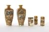 Vaser, 2+2+1, porslin, satsumas. 1900-talets början.