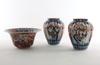 Vaser och skÅl, 2+1, porslin, imari omkring 1900.