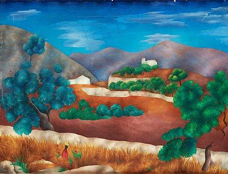 Sven westman, landscape from genova, mallorca.