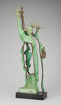 "FERNANDEZ ARMAN, ""Slice of Liberty"". Signed Arman and numbered 145/150. Patinated bronze, heigh..."