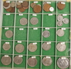 Myntsamling, 8 delar, bla silver, koppar, sverige och europa. mest 1900-tal.