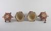 Lyktor, ett par, keramik, satsuma, japan.