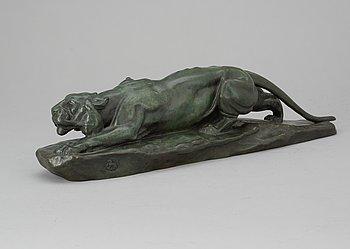 143. LÉON BUREAU, Panther before the attack.