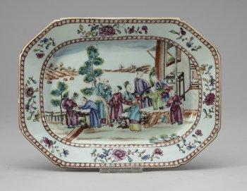 60. A famille rose serving dish, Qing dynasty, Qianlong (1736-95).