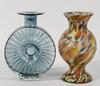Vaser, 2 st, glas. bl a finncristal, finland.