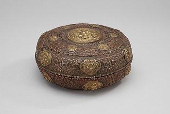 83. A copper box, Souteast Asia.
