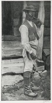 448. Akseli Gallen-Kallela, SMOKING A PIPE.