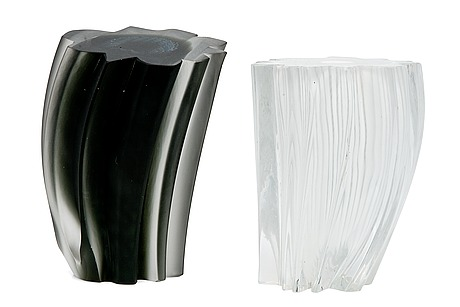 Oiva toikka, glass sculptures, a pair.