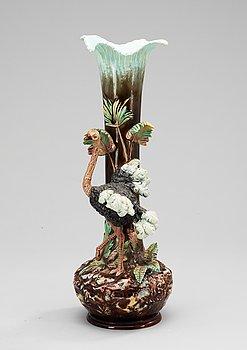 73. A late 19th Century majolica vase.
