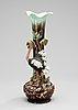 A late 19th century majolica vase.
