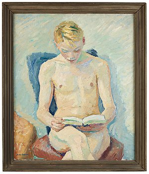 75. Jocke Åkerblom, Sitting young man.