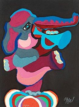 """310. Karel Appel, """"Te voir marcher est un événement énorme"""", from: """"La Cirque""""."""