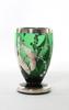 Karaff med glas, 1+6, grönt glas.